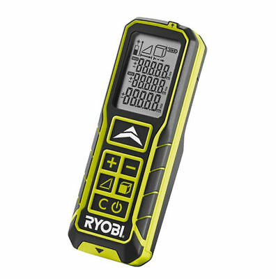 RYOBI 30m LASER DISTANCE MEASURER RLM30 LCD area,volume + pythagoras calculation