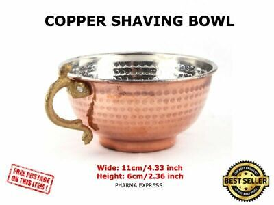 Turkish Handmade Hammered Copper Shaving Bowl for Brush and Safety Razor