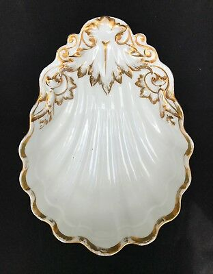 1850's Haviland Old Paris French Porcelain Clamshell Dish
