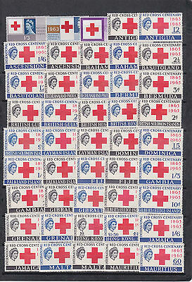 1963 81 stamps,different br colonies red cross MNH       k300