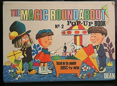 Rare And Vintage 1969 The Magic Roundabout No 2 Pop Up Book.