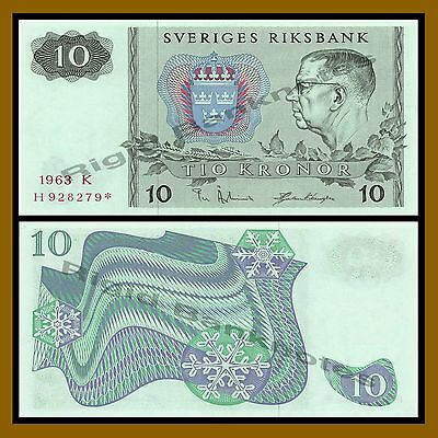 Sweden 10 Kronor, 1963 P-52 Replacement * Star Unc
