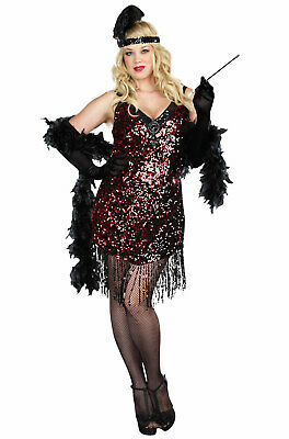 Brand New 1920s Glamorous Flapper Plus Size Halloween Costume