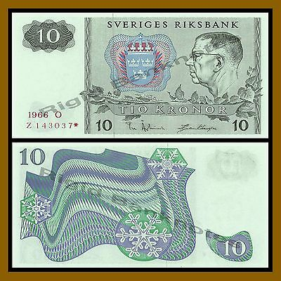 Sweden 10 Kronor, 1966 P-52 Replacement * Star Unc