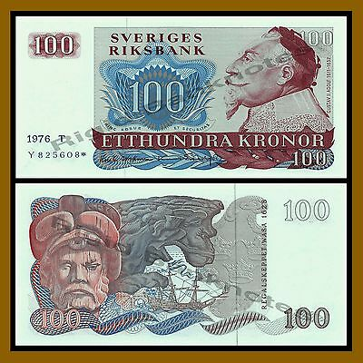 Sweden 100 Kronor, 1991 P-54 Replacement * Star Unc