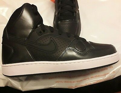 Women's NIKE Son of Force MID UK 6 EUR 40 Trainers Boots Hi Tops Black