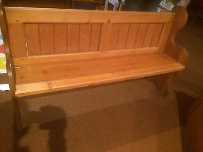 Church pew pine