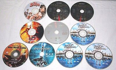 Lot 10 DVD Movies The 10th Kingdom Eragon Gladiator Three Musketeers Red Sonja