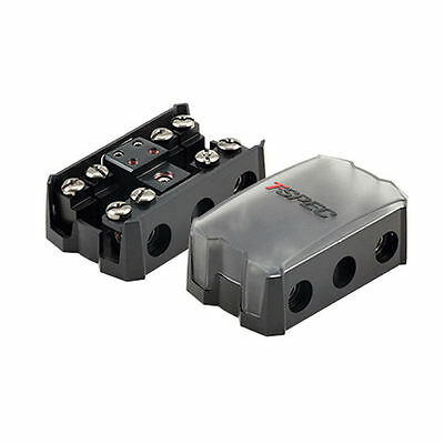 T-Spec V12FDB-14PN 4-WAY All-In-One Compact MANL Fuse/Ground-Distribution Block