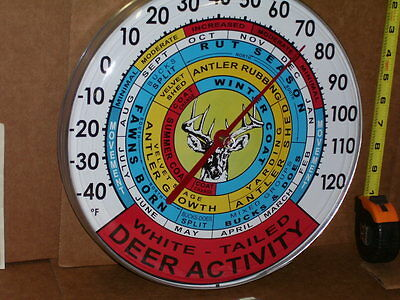 WHITE TAILED DEER - 12 Month ACTIVITY INFORMATION CHART - Thermometer -- UNUSUAL