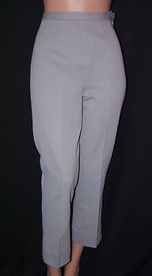 Vintage 50s/60s Gray Cigarette Pants / 1960s Mod High Waisted Ankle Pants - S