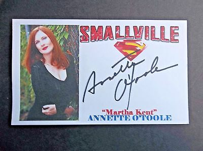 """Smallville"" Annette O'Toole ""Martha Kent"" Autographed 3x5 Index Card"