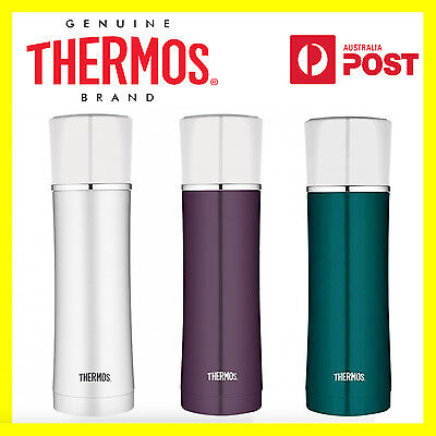 New Thermos 470ml Sipp Stainless Steel Vacuum Insulated Flask White, Teal, Plum