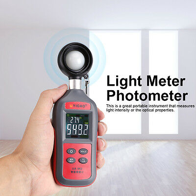 0Lux-200K Lux Digital LCD Lux Photo Flash Light Meter Luxmeter Photometer WD