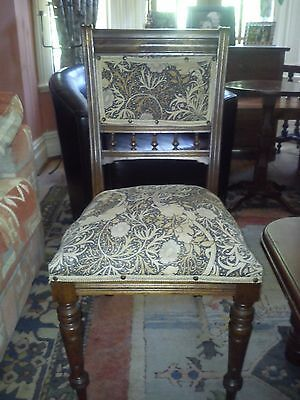 Edwardian Antique Mahogany Dining Chair with Upholstered Seats