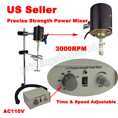 New 60W Electric overhead stirrer mixer variable speed 110V