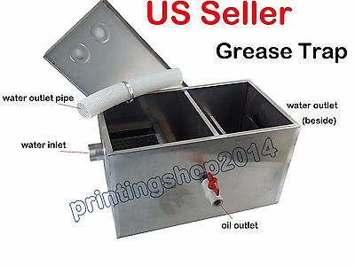 13GPM Grease Traps Restaurant Kitchen Waste Filter Stainless Steel 500x290x290mm