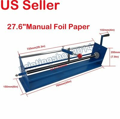 """New Style 27.6""""Manual Foil Paper Cutter Hot Stamping Rolls Slitter"""