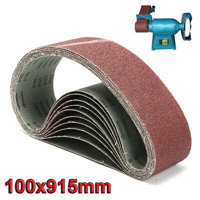 100 x 915mm Sanding Belts 40~1000 Grit For Metal Wood Grinding Abrasive Tool