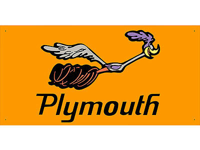 Advertising Display Banner for Plymouth Road Runner Sales Service Parts