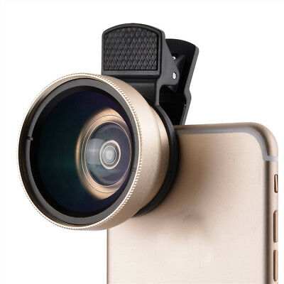 2-in-1 Clip On 0.45x Wide Angle Lens & 12.5x Macro Lens For Smart Phone Tablet