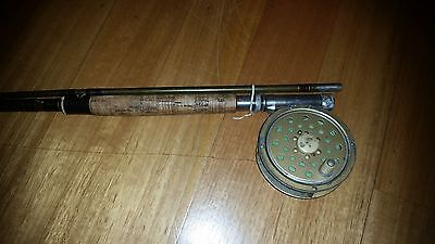Old Vintage Alpha Fly Fishing Rod and Reel Collectable