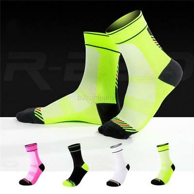 Riding Cycling Socks Anti-sweat Breathable Sport Running Bicycle Ankle Socks M L