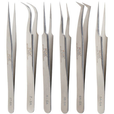 Stainless Steel Eyelash Extension Tweezers for Russian 3D Volume Lash Extensions