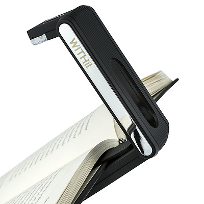 Fold Light by WITHit - Black - 3 LED Rechargeable Reading Light - LED Book Light