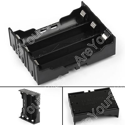 3 Cell 18650 Battery Holder Case Box Leads Pins PCB Board Mount Plastic