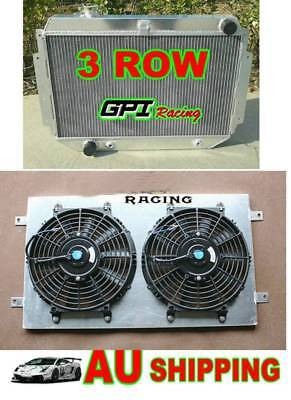 Aluminum Radiator Holden Torana HQ HJ HX HZ HK Kingswood V8+Alloy Shroud +Fan