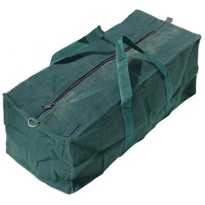"""18"""" Zipped Canvas Tool Bag Heavy Duty Camping Holdall 460mm Water Resistant"""