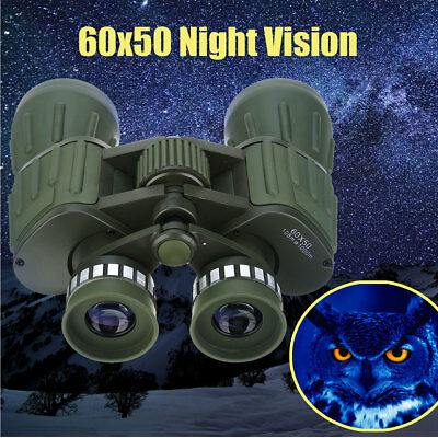 Professional Day Night Prism 60x50 HD Military Army Zoom Binoculars Hunting Camp