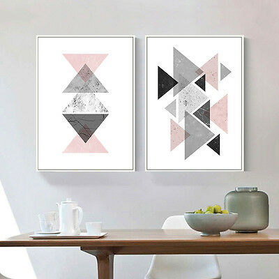 Geometric Triangles Abstract Canvas Poster Art Prints Modern Home Decoration