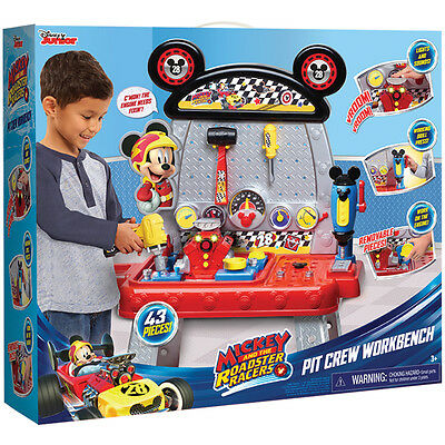 Disney Mickey & The Roadster Racers Toy Pit Crew Workbench NEW
