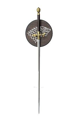 GAME OF THRONES - NEEDLE (HBO), ARYA STARK'S SWORD (with FREE wall plaque)