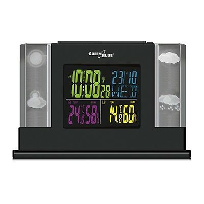3D Hologram Weather Station Indoor/Outdoor LCD Color Screen DCF Forecast UK!