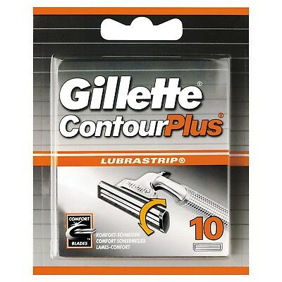 Gillette Contour Plus Cartridges 10 Pack Pivoting twin blades Free Delivery