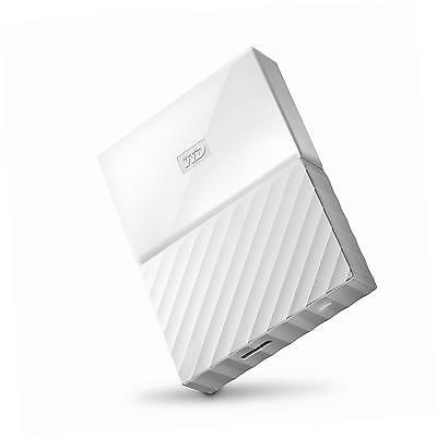 WD My Passport 4 TB Portable Hard Drive and Auto Backup Software - White