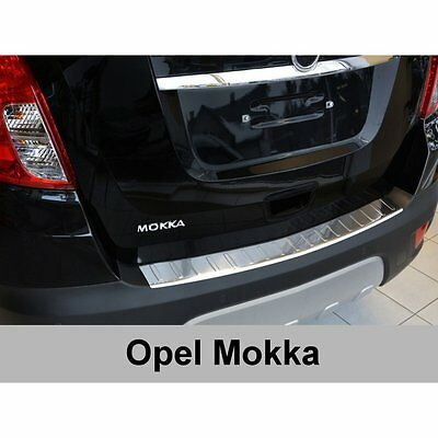 DCP Stainless steel rear bumper protector for Vauxhall Mokka 2012>