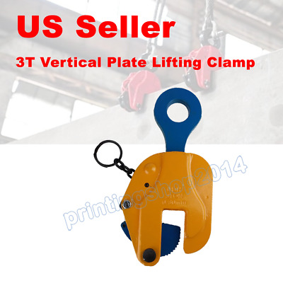 1pc 3T Vertical Plate Lifting Clamp With Lock Hoist Hook Chain Lifter Machine