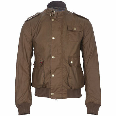 BRAND NEW-Barbour Steve McQueen Flyer Waxed Jacket Bark -M-*RARE*MSRP$399