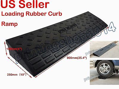 1 pc Heavy Duty Loading Rubber Dock Rubber Curb Ramps Car Slope Ramp 20Ton