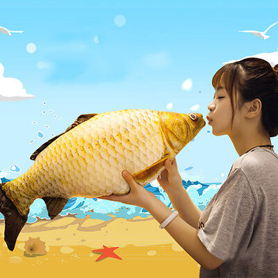Simulation Carp Fish Plush Pillow Creative Sofa Pillow Gift Kids Toy Christmas