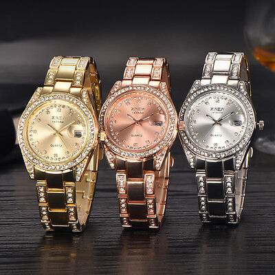 Women Watches Girl Fashion Stainless Steel Lady Rose Gold Female Wristwatch New