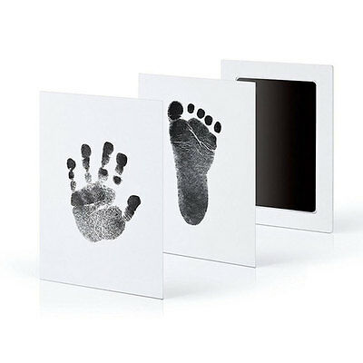 Baby New Born Inkless Touch Footprint Handprint Ink Pad Non Toxic Record