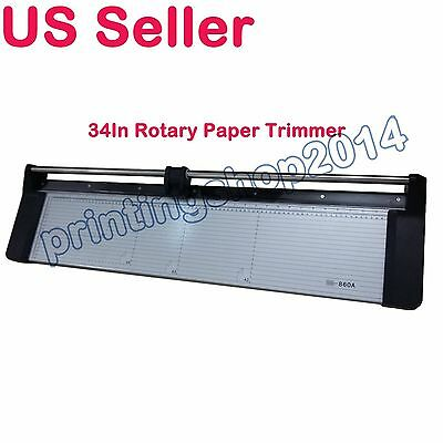 Newly 34In 860mm Portable Rotary Trimmer Photo Vinyl Paper Cutter