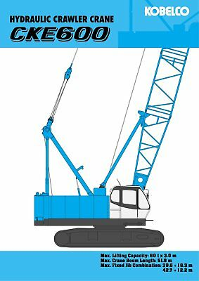Kobelco Cke600 Hydraulic Crawler Crane Workshop Shop Repair Service Manual