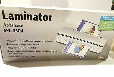"""NEW! Royal Sovereign APL-330U 13"""" Hot and Cold 4-Roller Pouch Laminator Machine"""