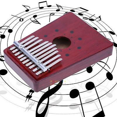 10 Keys Kalimba Mbira Likembe Sanza Thumb Piano Pine Instrument Wine red New